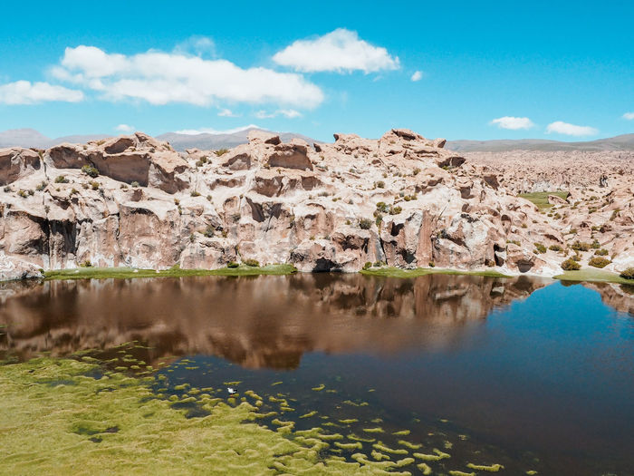 Beautiful bolivian desert Bolivia Desert Water Reflections Beauty In Nature Day Lake Mountain Nature No People Non-urban Scene Reflection Rock Scenics - Nature Sky Tranquil Scene Tranquility Water