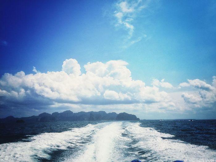 Goodbye to sky and sea Sea Bluesky Thailand Andaman Sea Andaman Krabi Krabi Thailand Sky Summer Summertime