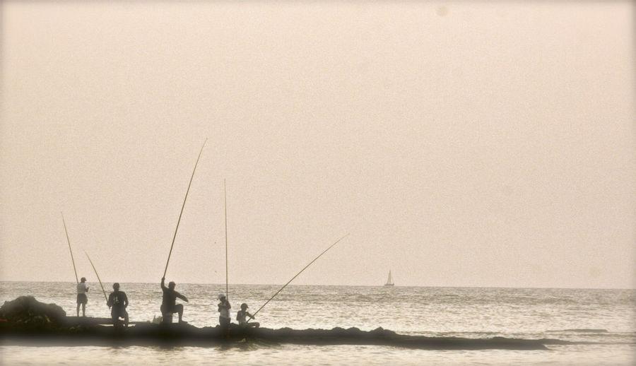fish Fishing Fishetmen Sea Rocky Beach The Great Outdoors - 2017 EyeEm Awards