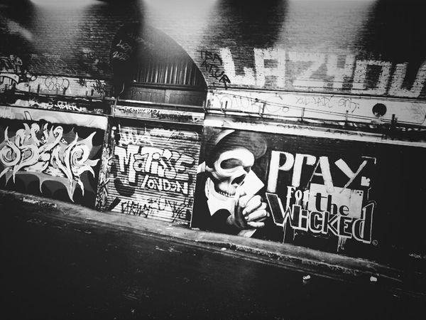 Pray For The Wicked Streetart Blackandwhite Andrographer NEM Black&white