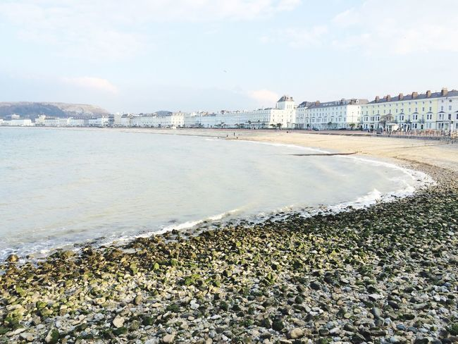 Llandudno Beach Seaside Sea And Sky Beachfront Beach Promenade Sky North Wales