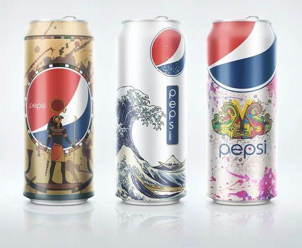 Pepsicola Advertising Design Kutu
