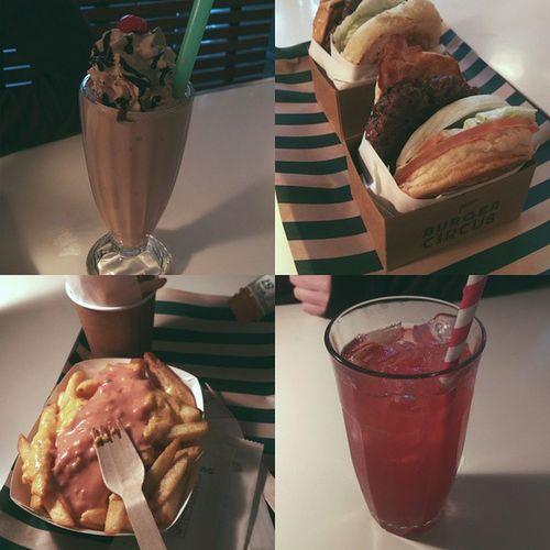 BurgerCircus Hollywoodroad HongKong Foodporn Burgers Fries Shake Cherrylimesoda FatDay Cny