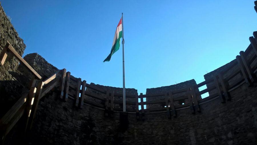 Pecs, Hungary National Emblem National Flag Rampart Blue Sky Medieval Architecture WindowsPhonePhotography