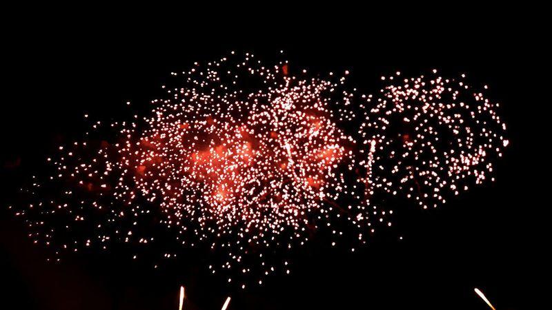 Celebration Exploding Night Sky Outdoors Fireworks