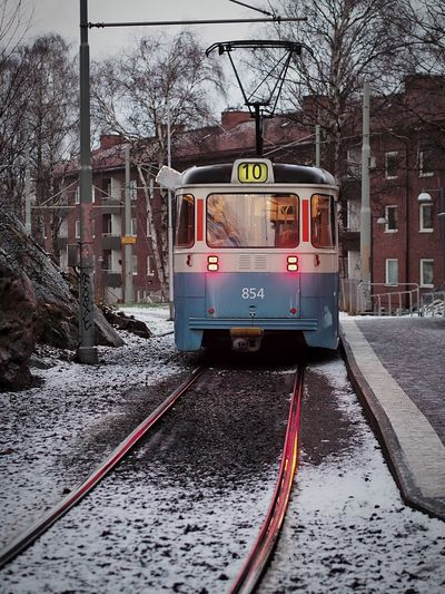 Old Tram Snow M.Zuiko 45mm 1:1,8