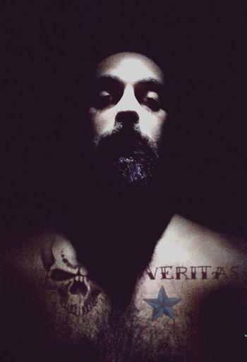 Tattoo Olaylar Veritas Skull Mustache Beard Dovme Star