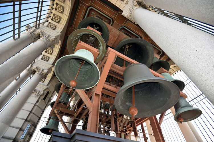 Low Angle View Of Bells At Sather Tower