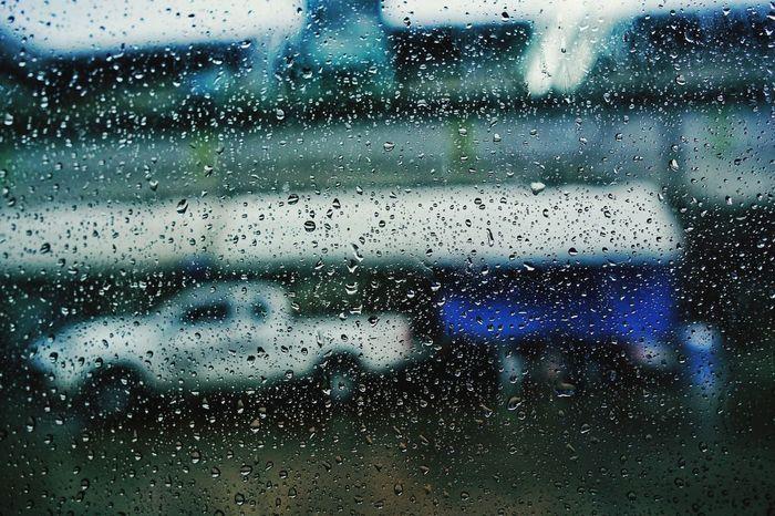 Water Backgrounds Full Frame Looking Through Window RainDrop Drop Window Wet Car Water Drop Rainy Season