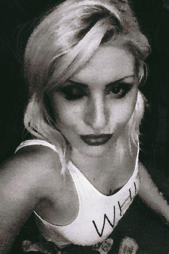 Naughty Girl  Blonde Sexy Girl Piercing Tattoo Lips Glamorous  That's Me Hello World