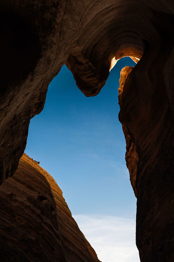 Tents Rock National Monument Arch Arid Climate Beauty In Nature Cave Day Geology Low Angle View Natural Arch Nature No People Outdoors Physical Geography Rock - Object Rock Formation Scenics Sky Textured  Tranquil Scene Tranquility Travel Destinations