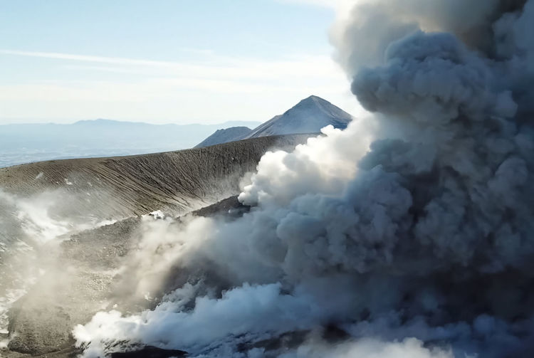 Active Volcano Air Pollution Beauty In Nature Cloud - Sky Day Emitting Environment Erupting Geology Mountain Nature No People Non-urban Scene Outdoors Physical Geography Pollution Power Power In Nature Scenics - Nature Sky Smoke - Physical Structure Volcanic Crater Volcano