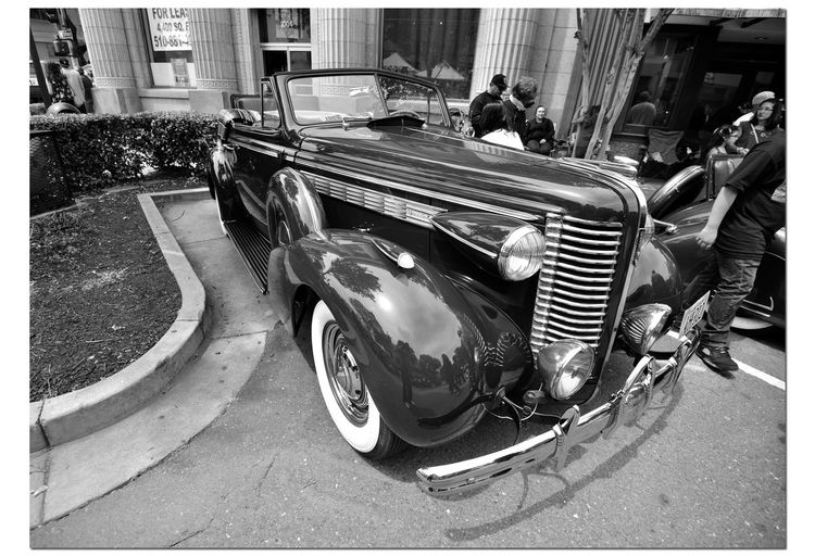 Classic Cars 5 Vintage Automobile Antique 1937 Buick Special Coupe Convertible Rumble Seat Custom Chrome Monochrome Monochrome_Photography Black & White Black & White Photography Black And White Black And White Collection  Bnw_friday_eyeemchallenge Retro Style Collector's Cars American-made Car Club Car Show Car Collectors Street Scene Downtown City Life Real People Urban Photography Automotive Photography Architecture Building Exterior Windows Built Structures City Street