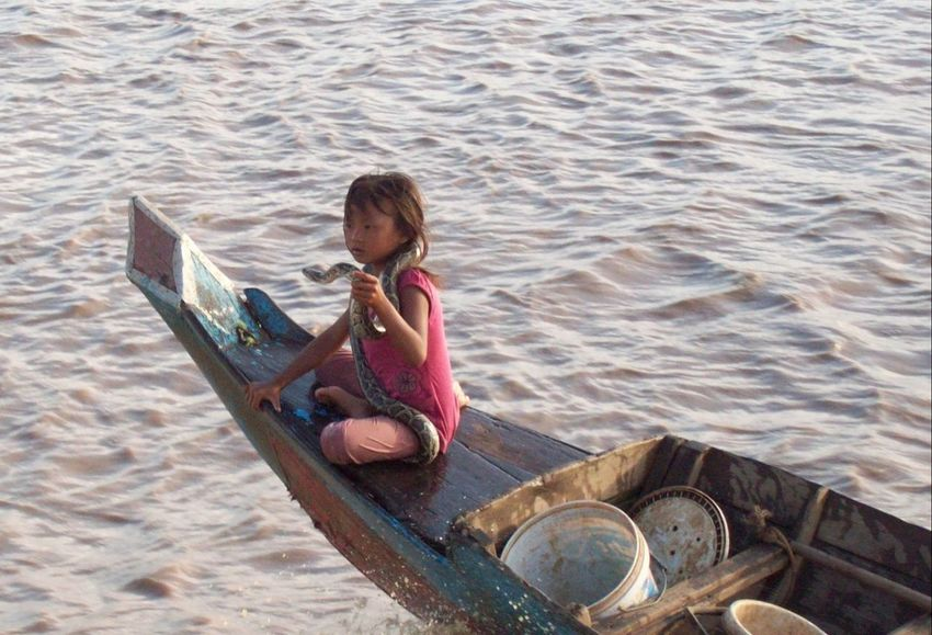 Children Only Child One Person One Girl Only Water Childhood Travel Cambodia Tonlesap