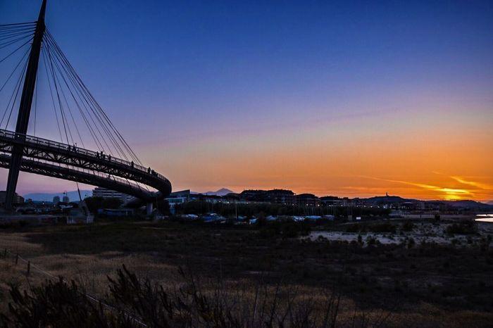 Architecture Pescara sunset