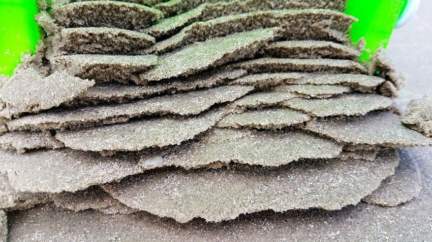 Day No People Outdoors Stack Close-up Nature Samsung Galaxy S7 Edge Mustang Island Texas Beach Sand Castle Sand Green Color Sommergefühle Perspectives On Nature