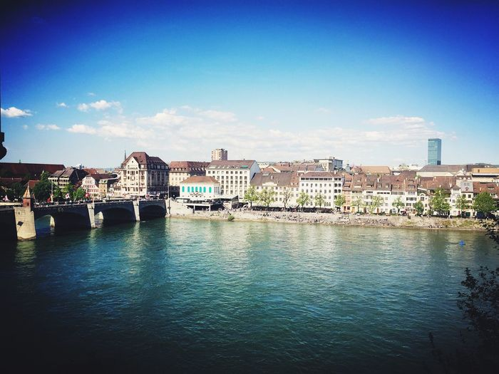 View of the Rhine from the Münster church Basel Basel, Switzerland Rhine Rhine River Switzerland River Bridge First Eyeem Photo