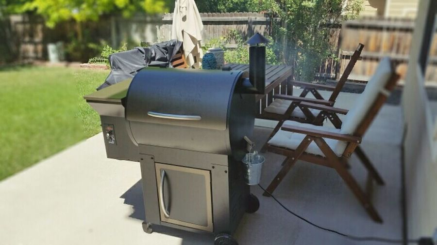 Brisket Smoker My Backyard Hanging Out Grill Drinks Summertime