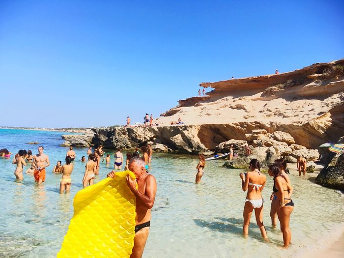 Colour Of Life Yellow Swimming Sealife Martinparr Sea Sea And Sky Fun Summer Relaxing SPAIN Formentera La Isla Bonita Air Bed Live For The Story Sommergefühle