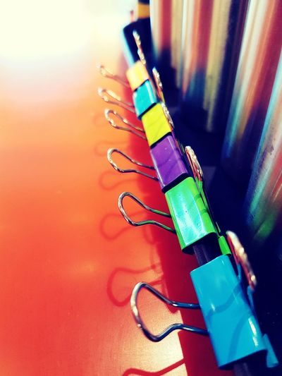 Multi Colored No People Paperclips Colorfull EyeEm Diversity