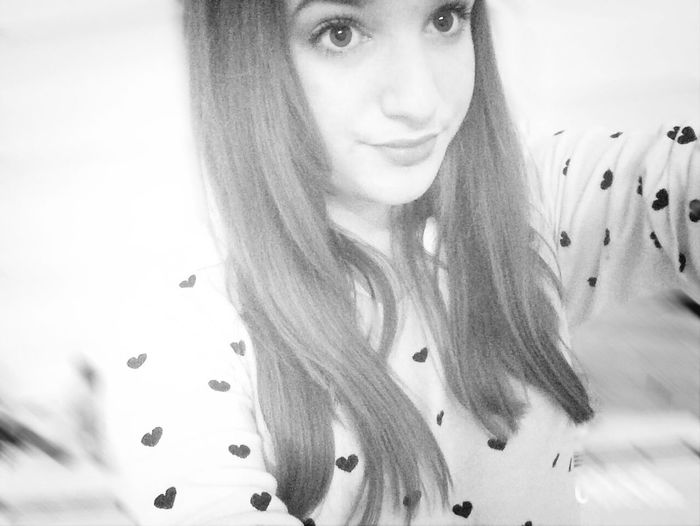 Selfie Girl Blackandwhite Hearts Love Lovely Me Instagram