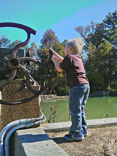 At Lee & Gordons Mill in Chickamauga, Ga. Stopped to explore, read a book & spend a little Mommy & Son alone time together. Great day after school Enjoying The Sun