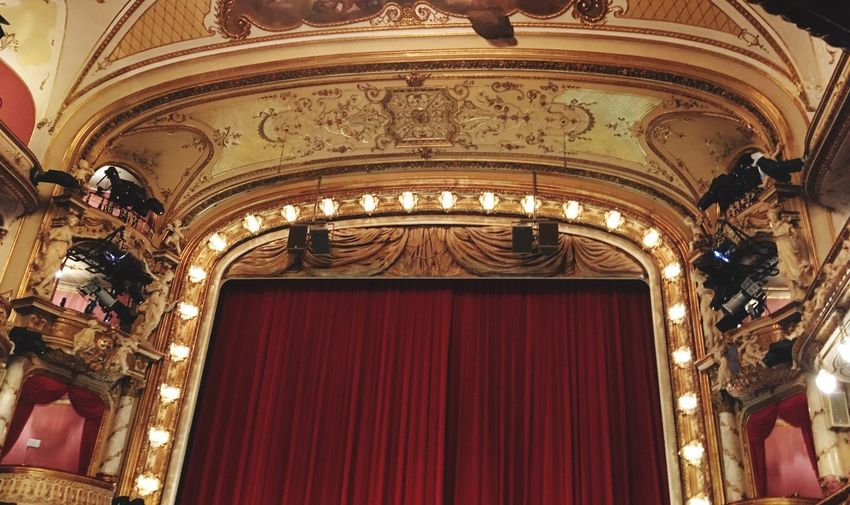 Arts Culture And Entertainment Curtain Stage Theater No People Built Structure Architecture Low Angle View Indoors  Day Fresco