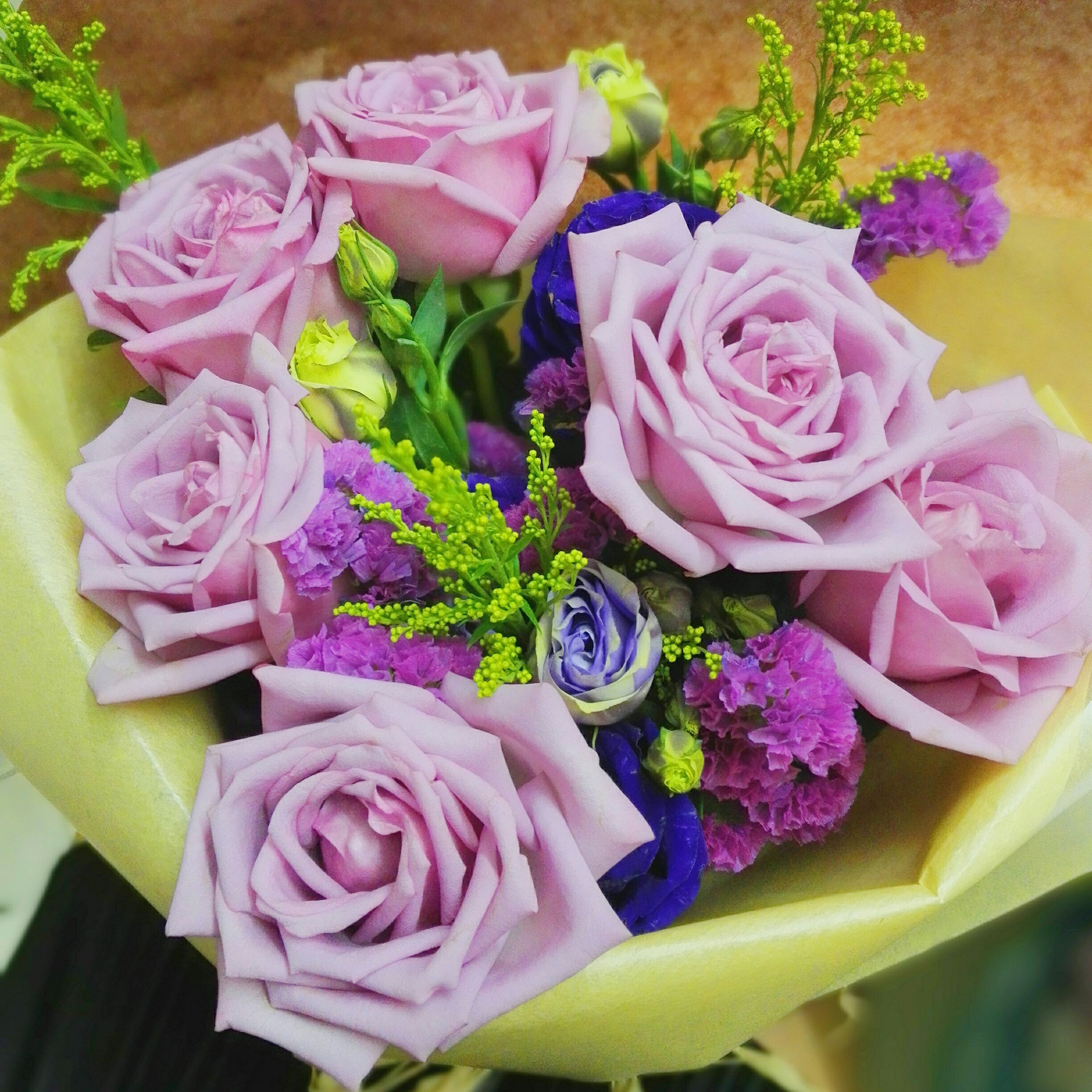 flower, freshness, petal, rose - flower, fragility, bouquet, flower head, indoors, pink color, bunch of flowers, beauty in nature, flower arrangement, high angle view, rose, close-up, multi colored, vase, nature, variation, blooming