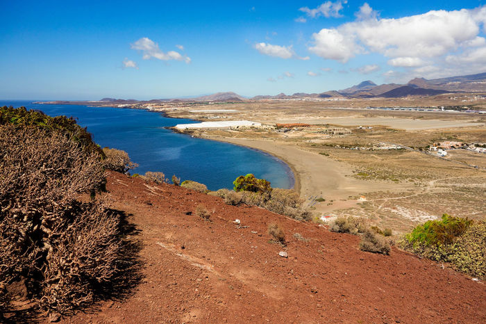 Beach Beauty In Nature Canary Islands Dry Leaves Explorer Going For A Walk Hot Weather Island Kanarische Inseln Look Down Look Down From The Mountain Médano Nature Ocean Outdoors Red Earth Sand Sea SPAIN Tenerife Tenerife Island Teneriffa Tourism Traveler Traveltheworld