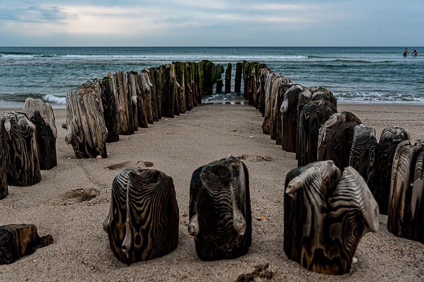 stacks Sylt, Germany Beach Beauty In Nature Day Horizon Over Water Island Nature No People Northsea Coast Outdoors Piles Of Wood Sand Sea Sky Travel Destinations Water