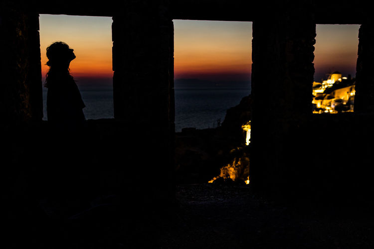 Greek Love Views From Windows Photography Santorni Silouette&sunset Summer Sunset