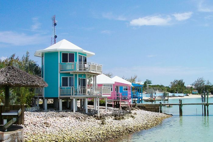 Travel Destinations StanielCay Exuma Bahamas Tropical Island Tropical Paradise Seeing The Sights Carribean Pink Buildings Pink Building Architecture No People Building Exterior Built Structure Tranquility