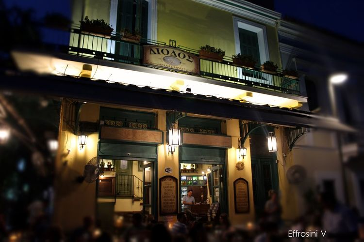 tradisinal greek tavern. Architecture City Life Drink Food Fun Low Angle View Monastiraki Night People Tavern  Traditional Culture Travel Destinations Vacation Time