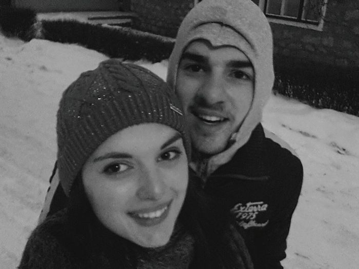 Snow ❄ Wintertime Boyfriend❤ Drunk In Love Smile ✌ Happy People