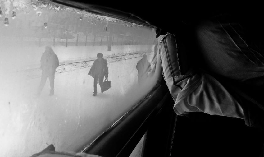 People Day Wb Urban Photography Trainphotography Train Station Window View Window Frame