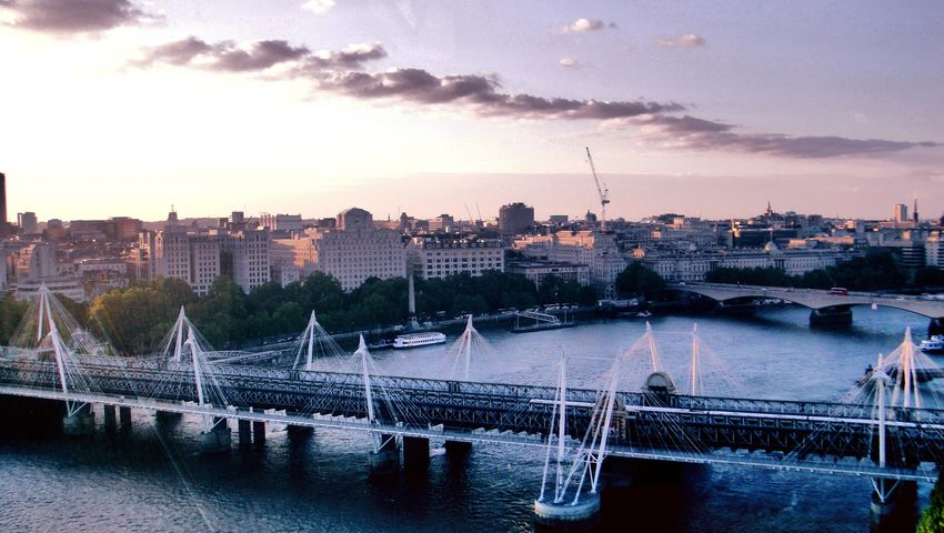 Hungerford Bridge London Landscape London River Thames Purple Skies Cityscapes Londonbridges Londonbridge Bridges Bridgephotography Londonphotography Londonphoto River Londonsunset Sunsetphotographs Purplesunset Landscape