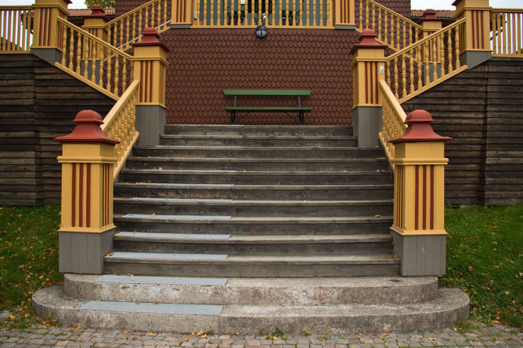 Absence Bench Empty Exterior Footpath Geometry Historic Leading Nk-villan Ornate Park Park - Man Made Space Park Bench Railing Shadow Spirituality Staircase Steps Steps And Staircases Symmetry The Way Forward Vertical Symmetry Walkway Wooden
