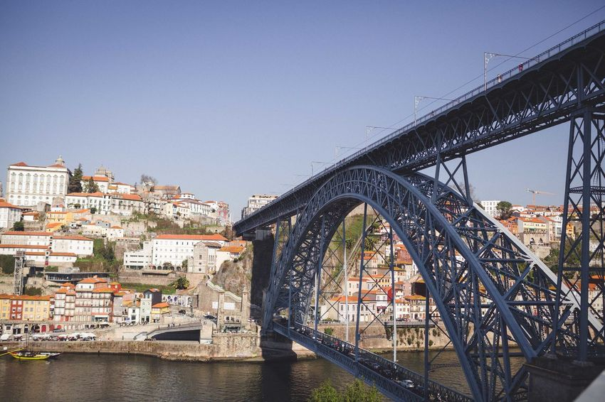 Porto The Week On EyeEm Architecture Bridge Bridge - Man Made Structure City Clear Sky Day No People Outdoors River Sky Travel Destinations Water
