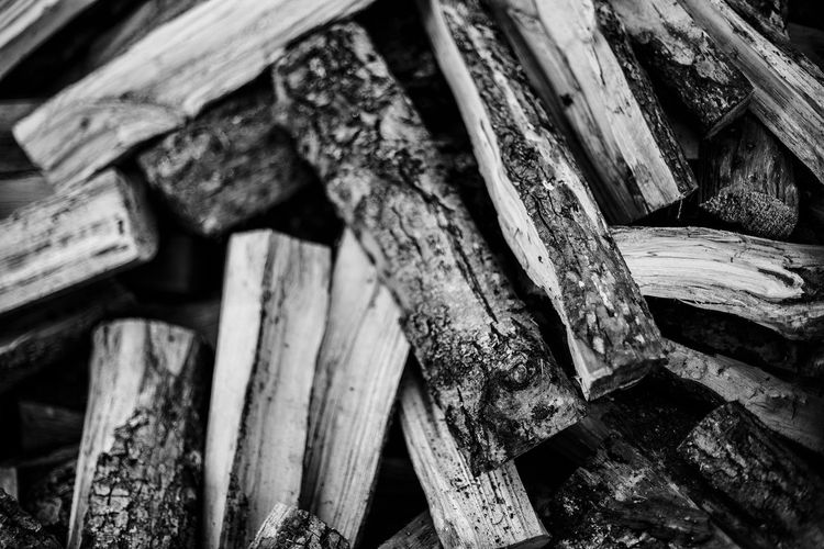 Firewood in a big pile Firewood Firewood Pile Wood - Material Alnus Glutinosa Alder No People Close-up Wood Log Full Frame Large Group Of Objects Backgrounds