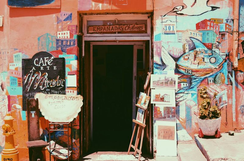 My Favorite Place Building Exterior Architecture Built Structure Communication Creativity Outdoors Day Multi Colored Chile Tourism Vscocam Travel Destinations Valparaiso, Chile Valparaíso Streetphotography Street Streetphoto Rustic Rustic Style Rusticbeauty Rusticwood Nikonphotography Indie Indie Scene