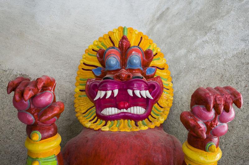 portrait of a tibetan devil Antique Art Art And Craft Collection Color Portrait Colorful Colors Colorsplash Creativity Expression Face Fantasy Figurine  Gesture Hands Human Representation Mask - Disguise Multi Colored Portrait Sculpture Spirit Vibrant Color Wood Dramatic Angles Carnival Crowds And Details