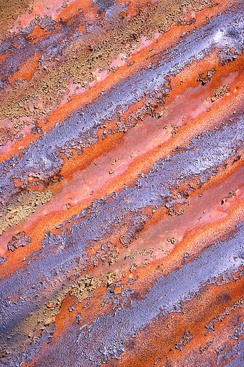 Macro pattern of old corrugated metal Abstract Close-up Colorful Corrugated Metal Corrugations Grunge Macro Old Scrap Metal Urban Weathered Worn