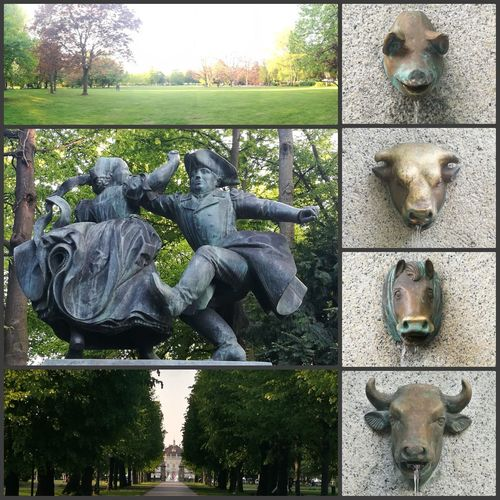 Ludwigsburg Bärenwiese Brunnen Sculpture Outdoors No People