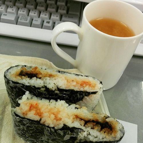 明太子と昆布で おにぎらず Lunch Japanesefood