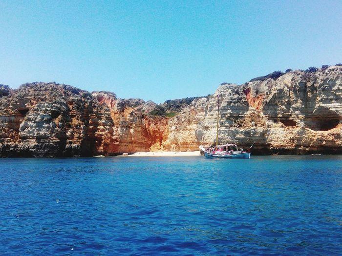 Algarve Lagos Portugal Boat Playa Beach Sea Ocean South Mediterranean