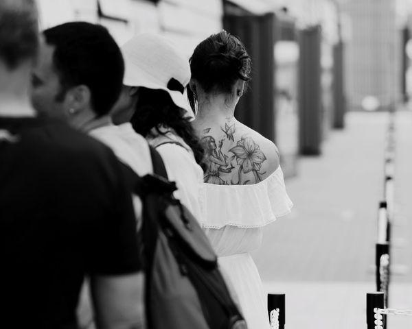 Fairy EyeEm Best Shots Street Portrait Streetphotography Samsung NX1 Blackandwhite Tattoo B&W Portrait Vscocam Tattoo Life