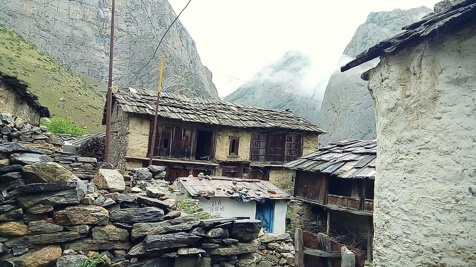 Architecture Built Structure Outdoors Travel Diaries FirstEyeEm Nature Landscape Mountain Scenic Valley Water Travel Destinations Mountain Range Cloud - Sky My Year My View Riverscape Leisure Activity Winters Village Huts Tribal Tribe Ancient Housing