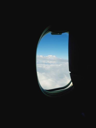 To The Out Airplane Commercial Airplane Air Vehicle Window Flying Sky Cloud - Sky First Eyeem Photo