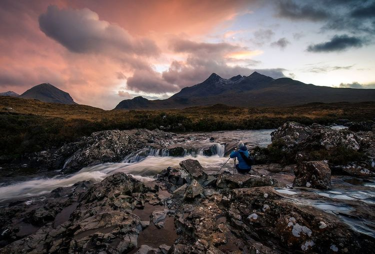 Sligachan, Isle of Skye Mountain One Person Landscape Outdoors EyeEm Gallery Landscape_Collection EyeEmNewHere EyeEm Best Shots - Sunsets + Sunrise EyeEm Best Edits Scotland Storm Cloud Dramatic Sky EyeEm Masterclass EyeEm Best Shots - Nature Mountain_collection