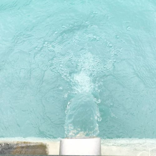 Water Day No People Outdoors Blue Motion Turquoise Colored High Angle View Close-up